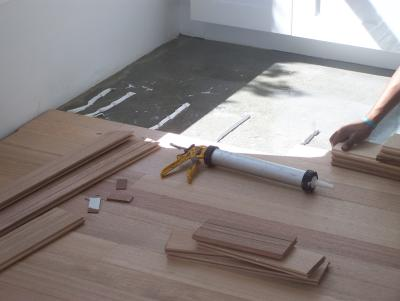 Glue Down Installation Bamboo, Bamboo Flooring On Concrete