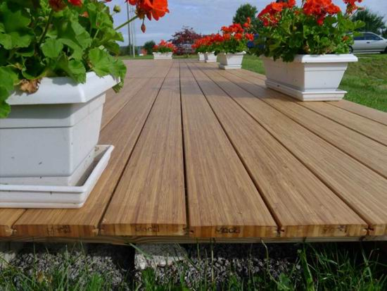 Vertical bamboo decking laminated solid bamboo deck board for Bamboo flooring outdoor decking