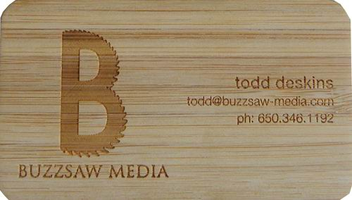 Bamboo business cards custom made laser carved bamboo business cards colourmoves