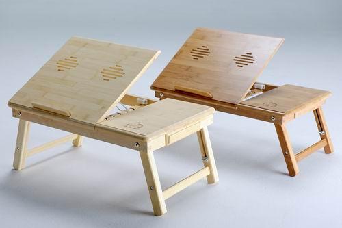 Bamboo Laptop Table - Computer Desk - Laptop Desk - Foldable