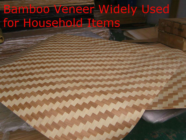 Bamboo Veneer Widely Used for Household Items