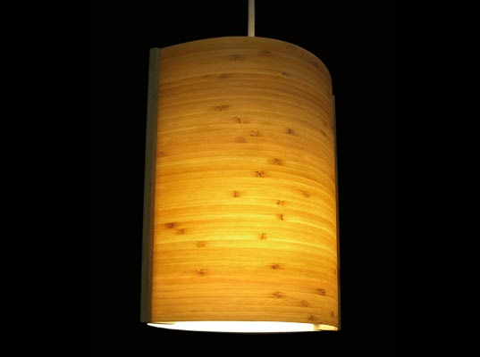 Bamboo lamp shade made of bamboo panel bamboo light creative bamboo lamp shade mozeypictures Images