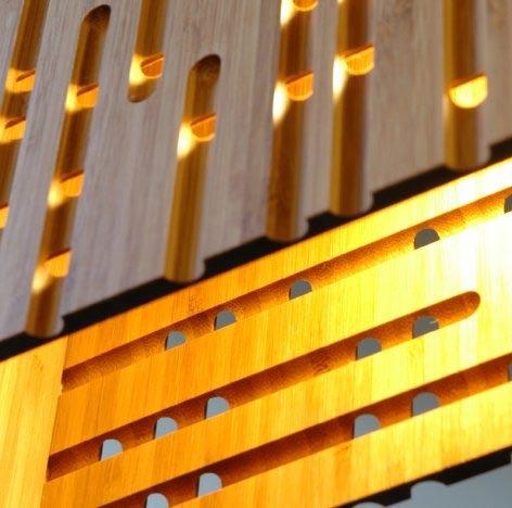 Bamboo Lamp Shade Made Of Bamboo Panel Bamboo Lighting