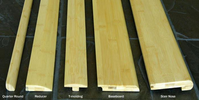 Bamboo Flooring Trim Threshold Baseboard Wall Base Skirting
